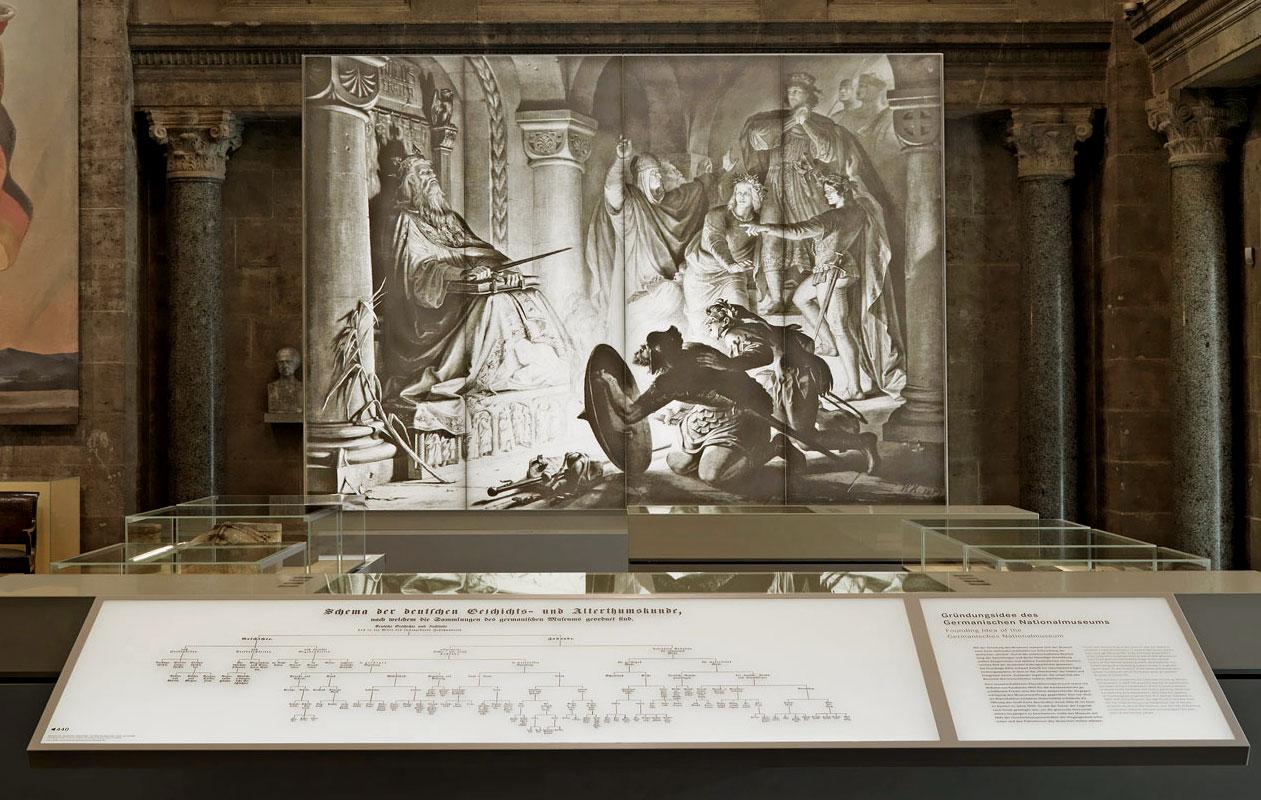 Reproduktion und Hinterleuchtung eines heute zerstörten Gemäldes auf Lightpanel frameless. Foto: GNM, Georg Janßen