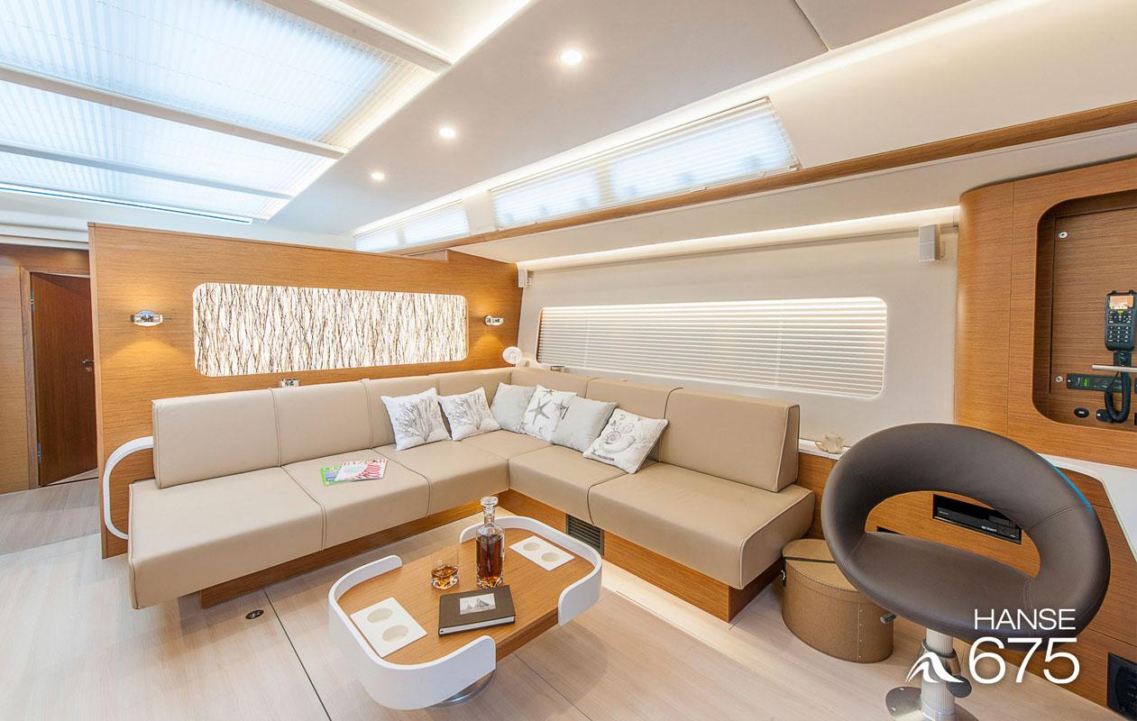 Innovative Technologien und progressives Design treffen bei der Superyacht Hanse 675 zusammen. Foto: HanseYachts, P. P. Reinmuth