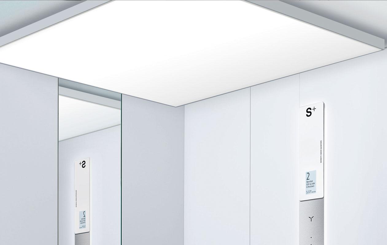 Serielle Produktion von hochwertigen Lichtdecken und Blenden für Schmitt + Sohn Aufzüge. Foto: Marius Schreyer
