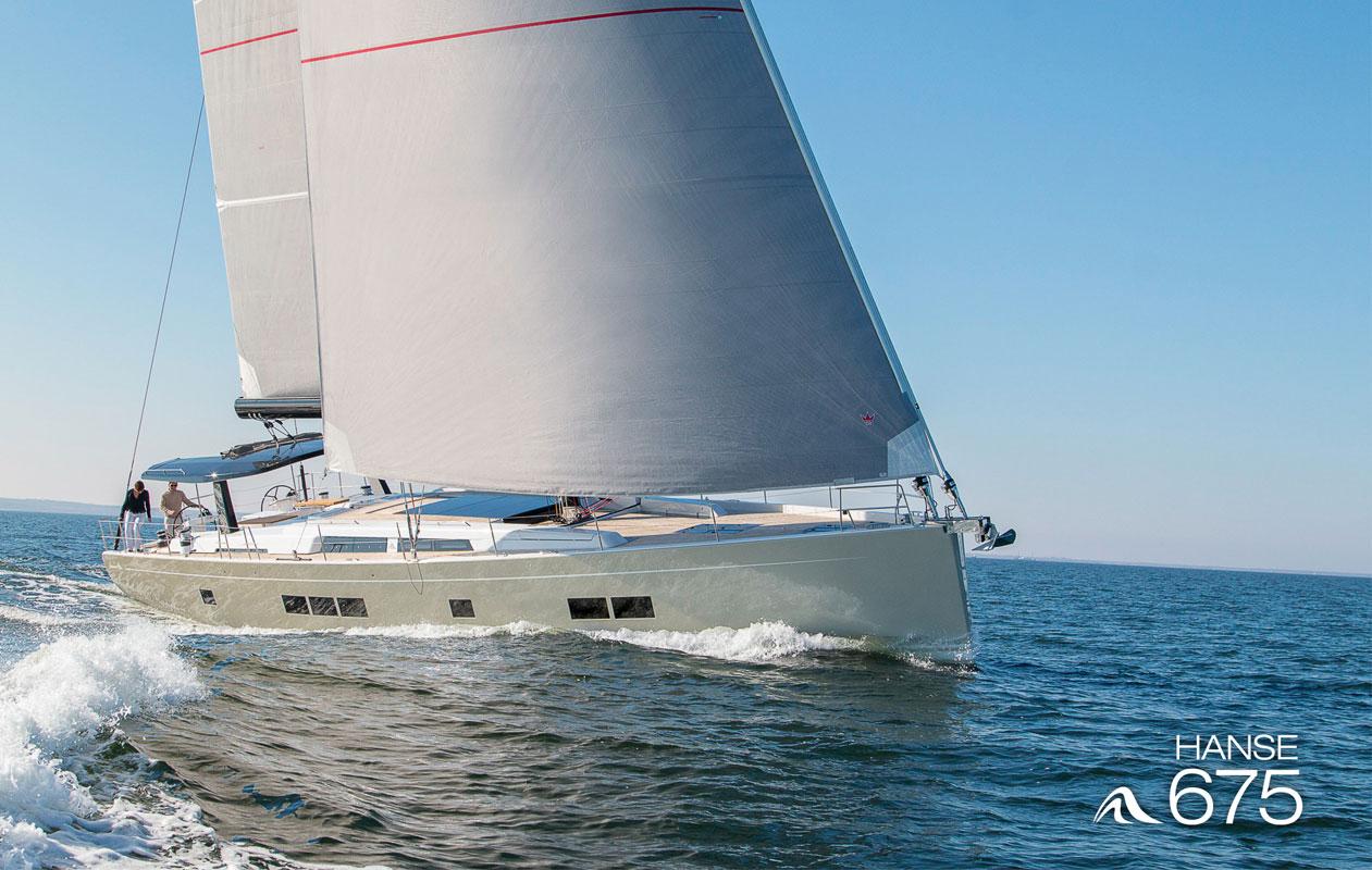 Die sportlich-elegante Superyacht Hanse 675.Foto: HanseYachts, P. P. Reinmuth