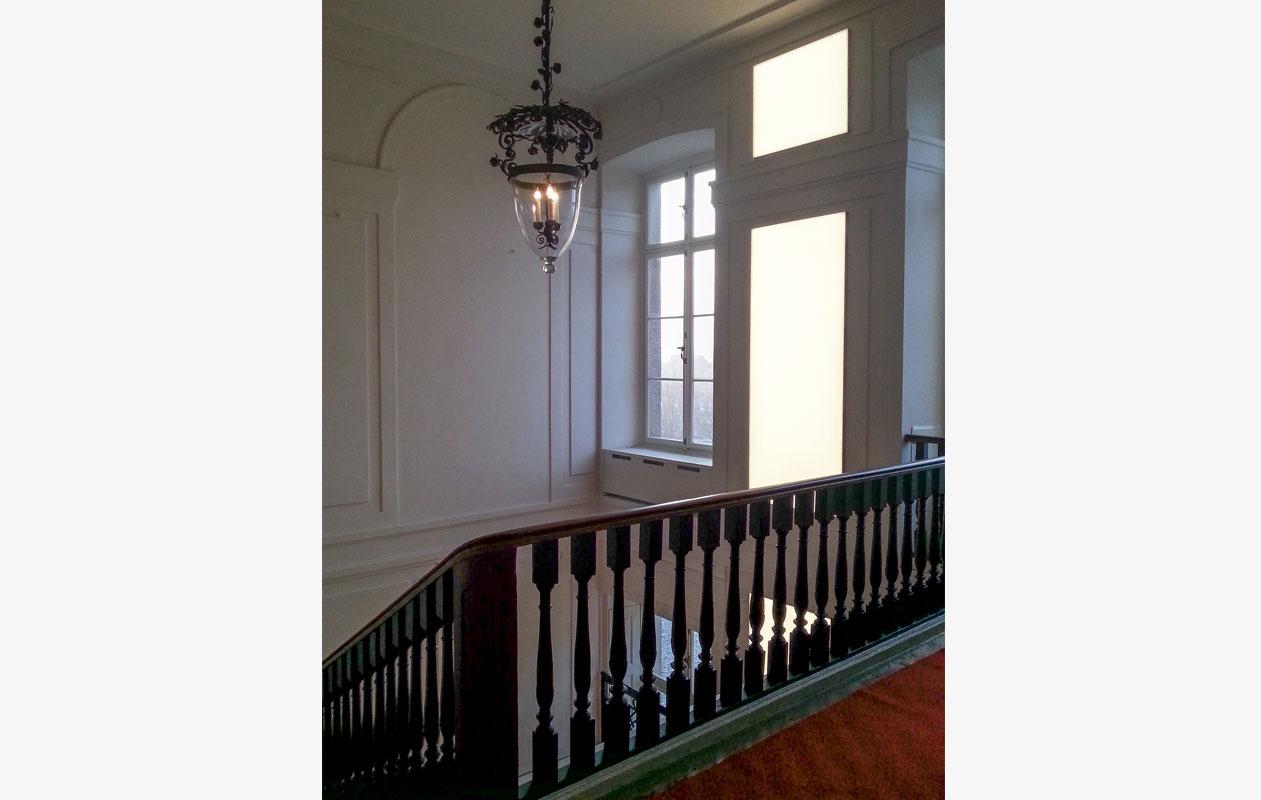 Dank der Leuchtkraft der Lightpanels, konnte die historische Beleuchtung beibehalten werden. Foto: Schloß Ludwigslust, Jähnke
