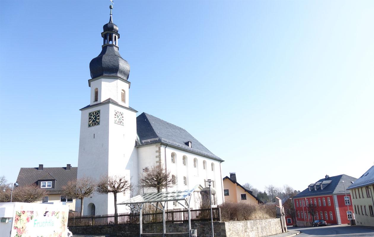 Die Markgrafenkirche in Konradsreuth. Foto: axis
