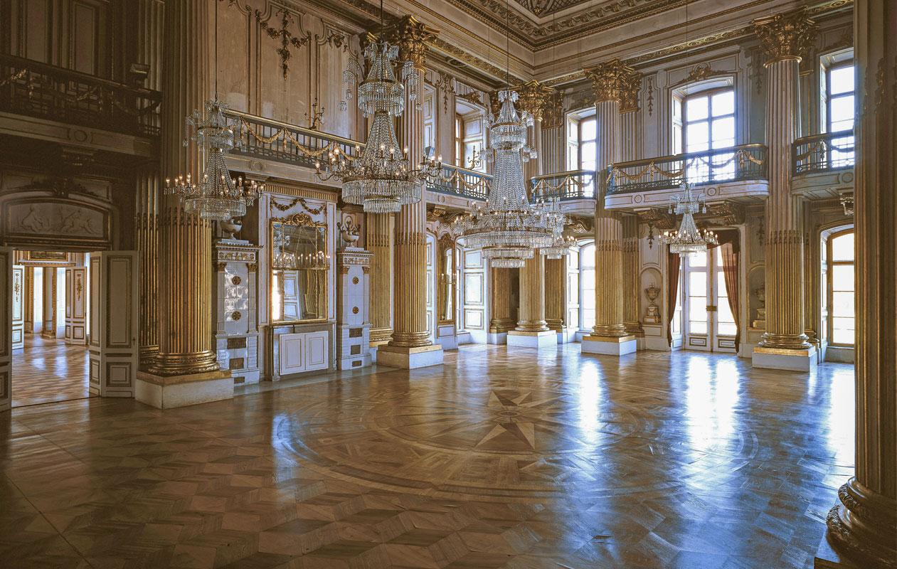 Goldener Saal, Schloss Ludwiglust. Foto: Walford